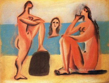 Abstract Nude Painting - Trois baigneuses 2 1920 Abstract Nude