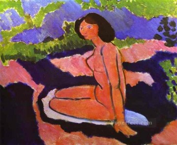 Abstract Nude Painting - A Sitting Nude Abstract