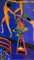 La Danse with Nasturtiums Abstract Nude