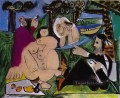 Lunch on the Grass After Manet 1960 Abstract Nude