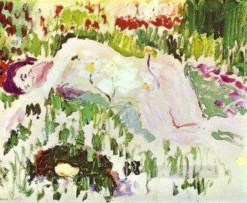 Abstract Nude Painting - The Lying Nude 1906 Abstract