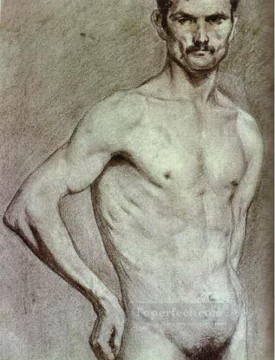 Abstract Nude Painting - Matador Luis Miguel Dominguin 1897 Abstract Nude