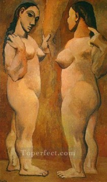 Abstract Nude Painting - Deux femmes nues 1906s Abstract Nude