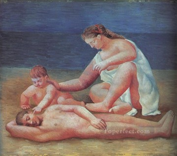 Famille au bord de la mer 1 1922s Abstract Nude Oil Paintings