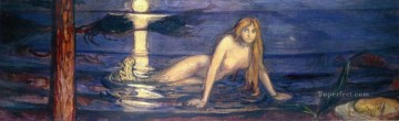 mermaid Painting - edvard munch the mermaid 1896 Abstract Nude