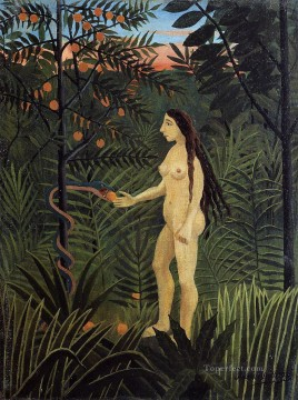Abstract Nude Painting - eve 1907 Henri Rousseau nude