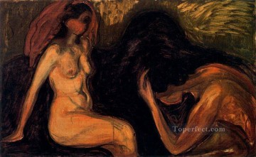 Abstract Nude Painting - man and woman 1898 Abstract Nude