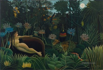 Abstract Nude Painting - The Dream Le Reve Henri Rousseau nude