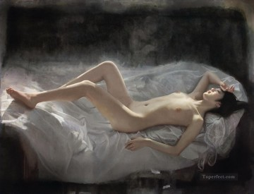 Chinese Nude Painting - Borders Chinese Girl Nude