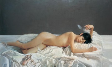 Dream Space Chinese Girl Nude Oil Paintings