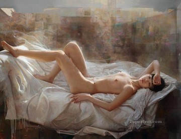 Dream in Spring Chinese Girl Nude Oil Paintings