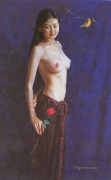 Chinese Nude Painting - Guan ZEJU 16 Chinese girl nude