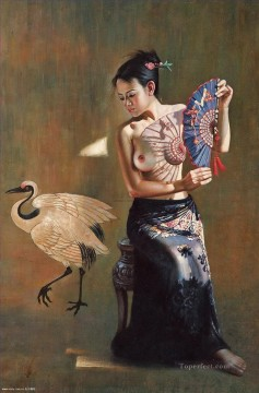 Chinese Nude Painting - Guan ZEJU 22 Chinese girl nude