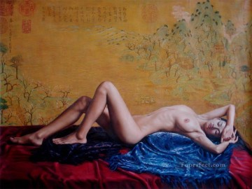 Chinese Nude Painting - Spring Outing Chinese Girl Nude