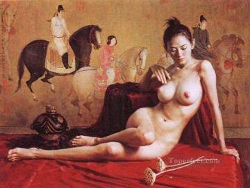 Chinese Nude Painting - Lady of Guoguo on a Spring Outing Chinese Girl Nude