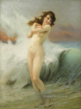 nude Painting - A Water Nymph The Wave Guillaume Seignac classic nude