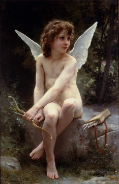 Amour a laffut angel William Adolphe Bouguereau nude Oil Paintings