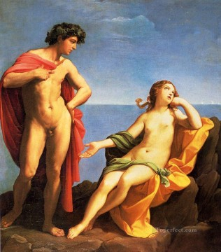 Guido Oil Painting - Bacchus And Ariadne Guido Reni nude