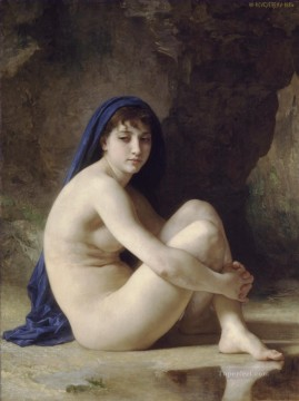 Baigneuse accroupie William Adolphe Bouguereau nude Oil Paintings