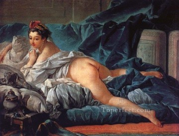 Classic Nude Painting - Brown Odalisk Francois Boucher nude