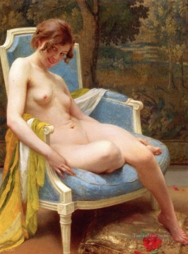 Artworks in 150 Subjects Painting - Daphne Guillaume Seignac classic nude