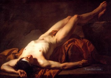 Classic Nude Painting - Hector Jacques Louis David nude