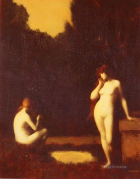 Idyll nude Jean Jacques Henner Oil Paintings