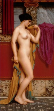 In the Tepidarium 1913 lady nude John William Godward Oil Paintings