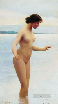 Blaas Oil Painting - In the water Eugene de Blaas nude