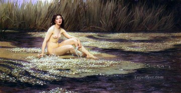 Classic Nude Painting - James The Water Nymph Herbert James Draper nude