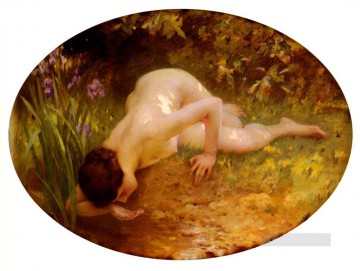 La Baigneuse realistic girl portraits Charles Amable Lenoir Classic nude Oil Paintings