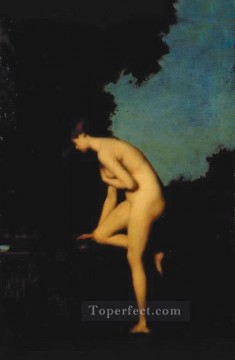 Classic Nude Painting - La Fontaine nude Jean Jacques Henner
