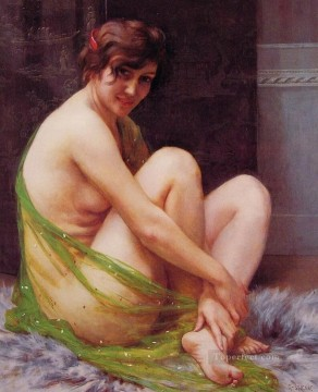 Artworks in 150 Subjects Painting - La Paresseuse Guillaume Seignac classic nude