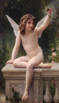 Classic Nude Painting - Le captif angel William Adolphe Bouguereau nude