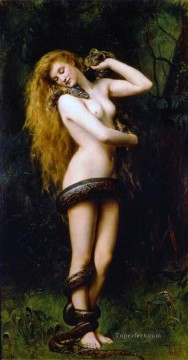 Lilith John Collier Pre Raphaelite Orientalist Classical Nude Oil Paintings