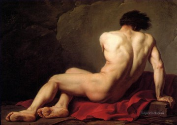 Classic Nude Painting - Male Nude known as Patroclus Jacques Louis David