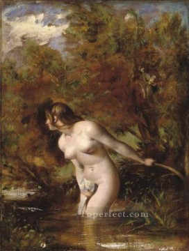 bath girl oil painting Painting - Musidora The Bather William Etty nude