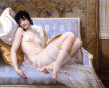 Artworks in 150 Subjects Painting - Nude Young Woman on a Sofa jeune femme denudee sur canape Guillaume Seignac classic nude