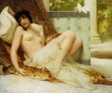 nude Painting - Nude on the Sofa Guillaume Seignac classic nude