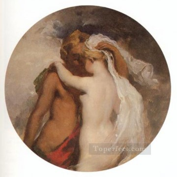 Nymph and Satyr William Etty nude Oil Paintings