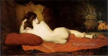 Odalisque female body nude Jules Joseph Lefebvre Oil Paintings