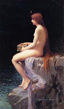 Pandora2 female body nude Jules Joseph Lefebvre Oil Paintings