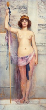 Priestess lady nude John William Godward Oil Paintings