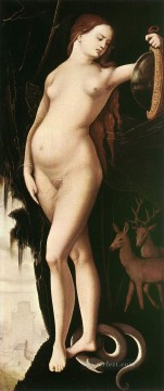 Classic Nude Painting - Prudence nude painter Hans Baldung