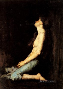 Solitude nude Jean Jacques Henner Oil Paintings