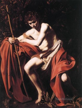 Classic Nude Painting - St John the Baptist2 Caravaggio nude