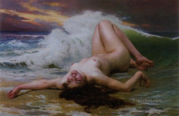Artworks in 150 Subjects Painting - The Wave Academic Guillaume Seignac classic nude