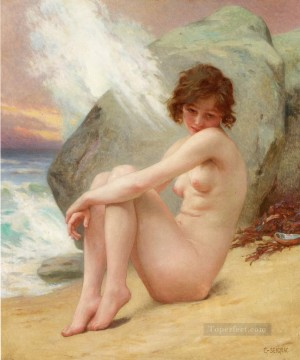 Artworks in 150 Subjects Painting - Venus marine Guillaume Seignac classic nude