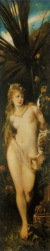 die funf sinne gesicht nude Hans Makart Oil Paintings