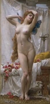 nude Painting - the awakening of Psyche Academic Guillaume Seignac classic nude